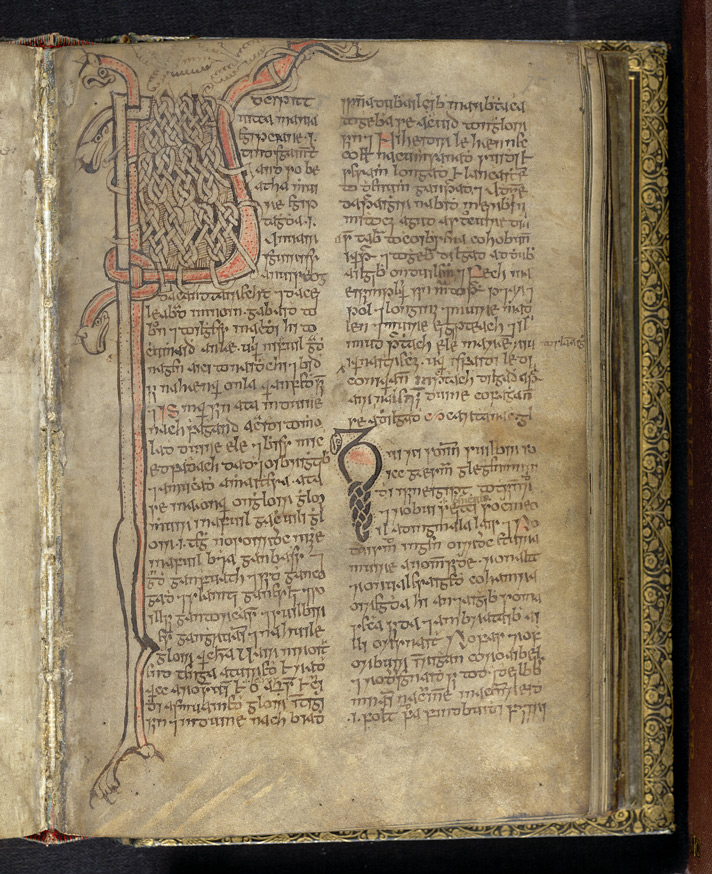 Ropework Initial of Life of Mary of Egypt, In A Volume Of Miscellaneous Prose And Verse Theological Texts